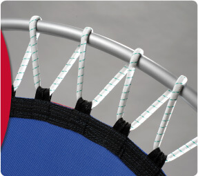 Rebounders with rubber cable