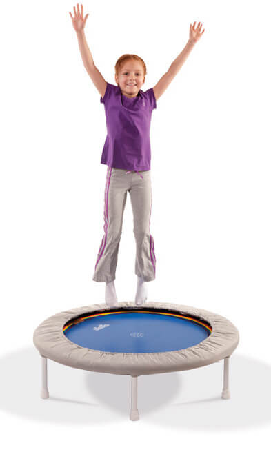 The trampoline helps to breakdown the energy