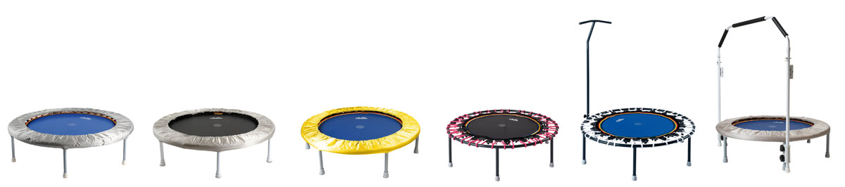 Trimilin rebounders with rubber cables